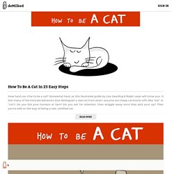 How To Be A Cat In 23 Easy Steps