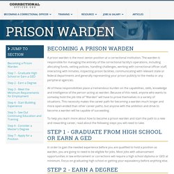 How to Become a Prison Warden