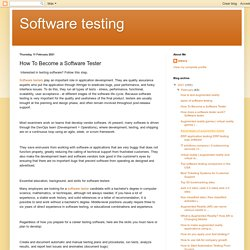 How To Become a Software Tester