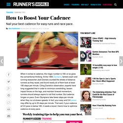 How to Boost Your Cadence