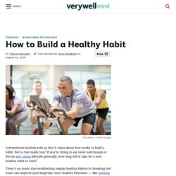 How to Build a Healthy Habit