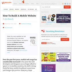 How To Build A Mobile Website - Smashing Magazine