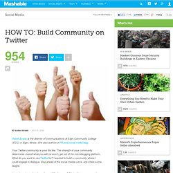 HOW TO: Build Community on Twitter