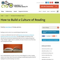 How to Build a Culture of Reading