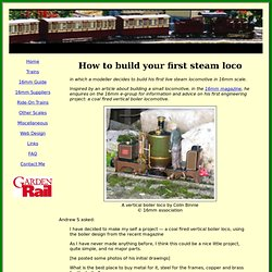 How to build your first steam loco