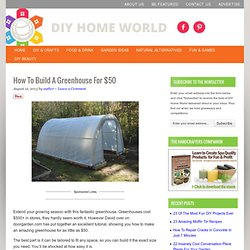 How To Build A Greenhouse For $50