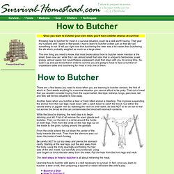 How to Butcher