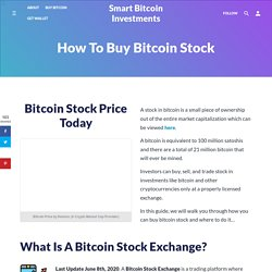 How to Buy Bitcoin Stock (2020)