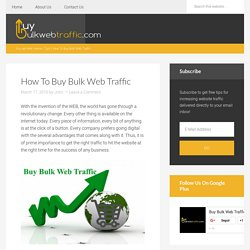How To Buy Bulk Web Traffic