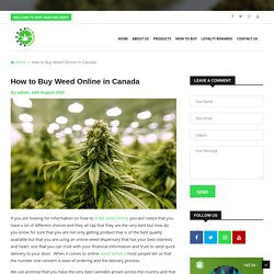 How to Buy Weed Online in Canada