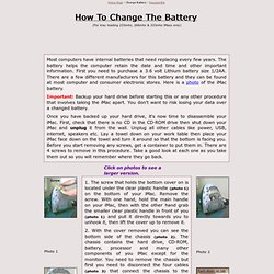 How To Change an iMac Battery