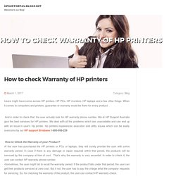 How to check Warranty of HP printers