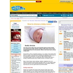 How to choose a baby name?