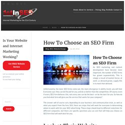How To Choose an SEO Firm