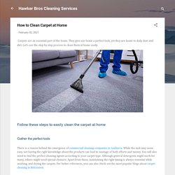 How to Clean Carpet at Home