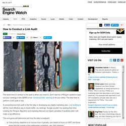 How to Conduct a Link Audit