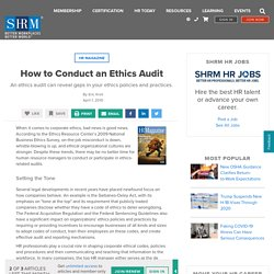 How to Conduct an Ethics Audit