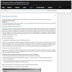 How to configure IPv6 Address