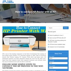 How to connect HP Printer with wi-fi?