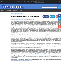 How to consult a Dentist?