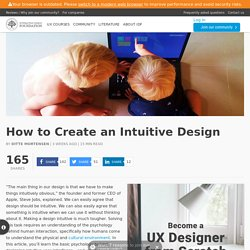 How to Create an Intuitive Design