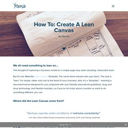 How To: Create a Lean Canvas