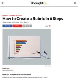 How to Create a Rubric in 6 Steps