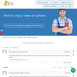 How to crop a video on iphone -