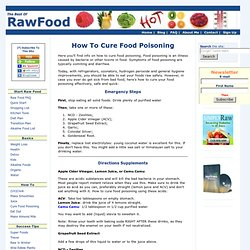 How To Cure Food Poisoning