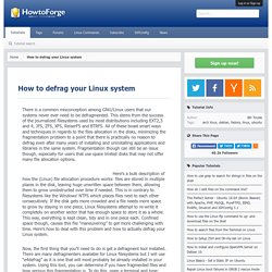 How to defrag your Linux system