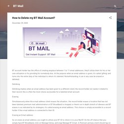 How to Delete my BT Mail Account?