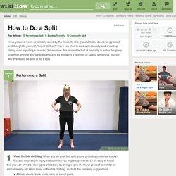 How to Do a Split