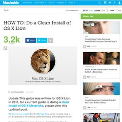 OS X Lion: How to Do a Clean Install