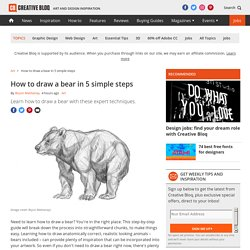 How to draw a bear in 5 simple steps