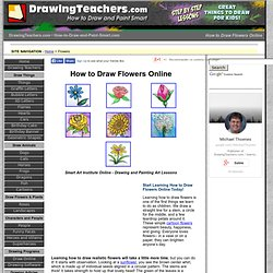 How to Draw Flowers Online