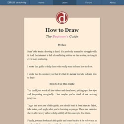How to Draw: The Beginner's Guide