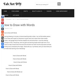 How to Draw with Words