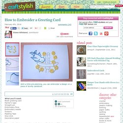 How to Embroider a Greeting Card