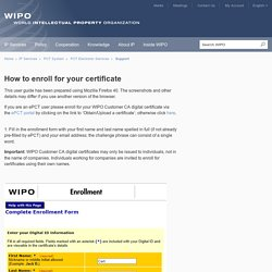 How to enroll for your certificate