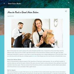 How to Find a Good Hair Salon