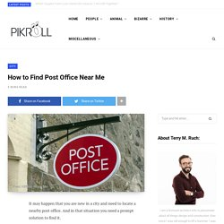 How to Find Post Office Near Me