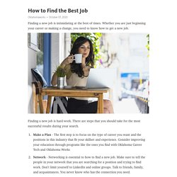 How to Find the Best Job