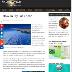 How To Fly For Cheap