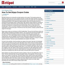 How To Get Drjays Coupon Codes