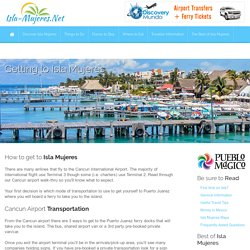 How to get to Isla Mujeres, Mexico