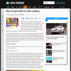 How to get kids to start coding