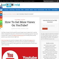 How To Get More Views On YouTube?