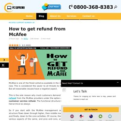 How to get refund from McAfee