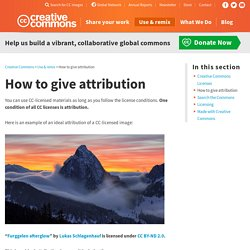 How to give attribution