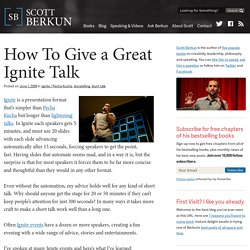 How to give a great Ignite talk